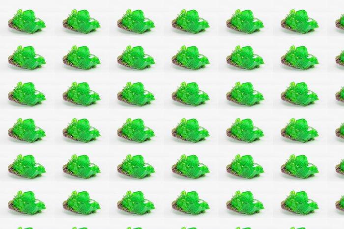 Vinylová Tapeta Krystal makro fotografie ve smaragdové barvě - Surové materiály