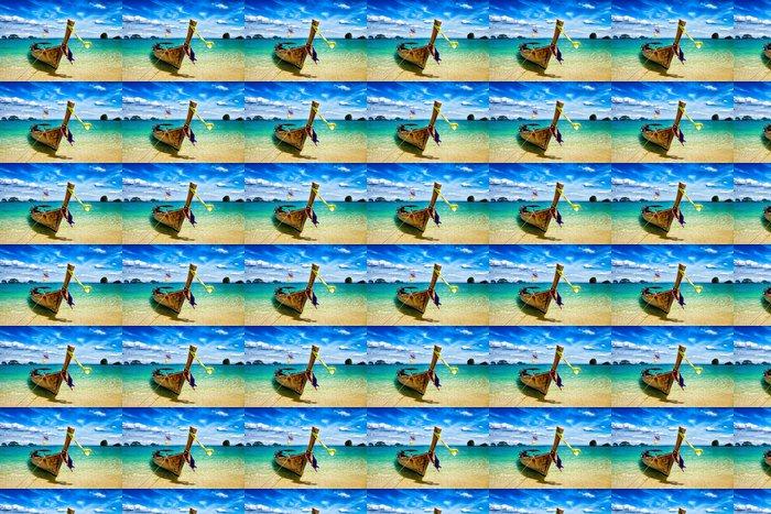 Vinylová Tapeta Dlouhý ocas loď na pláži, Thajsko - Prázdniny