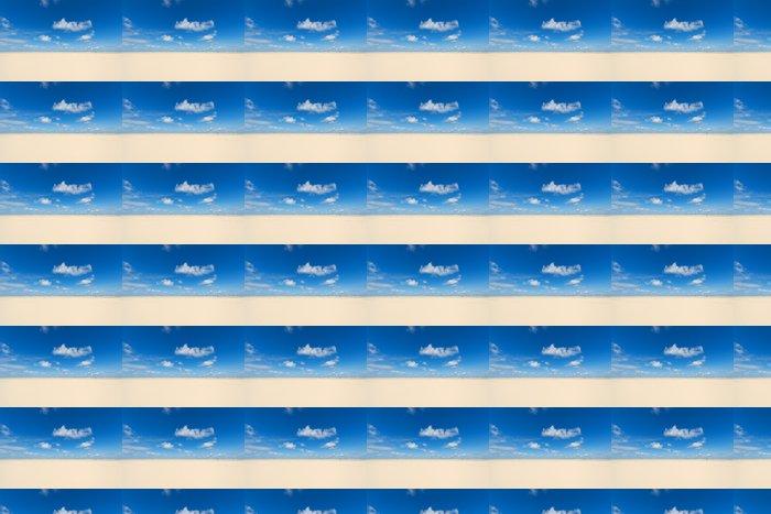 Vinylová Tapeta Dřevěný kůl na pláži - Prázdniny