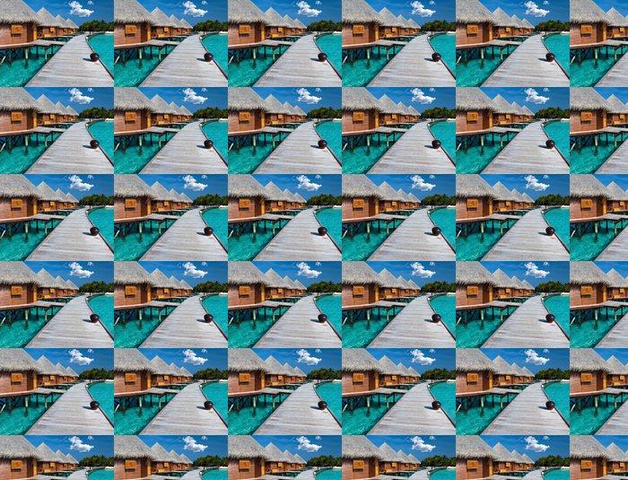 Vinylová Tapeta Ostrov v oceánu, Maledivy. Villa na pilotách o vodě - Prázdniny