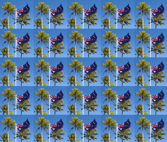 Vinylová Tapeta Vlajka v tropické Austrálii s palmami - Prázdniny