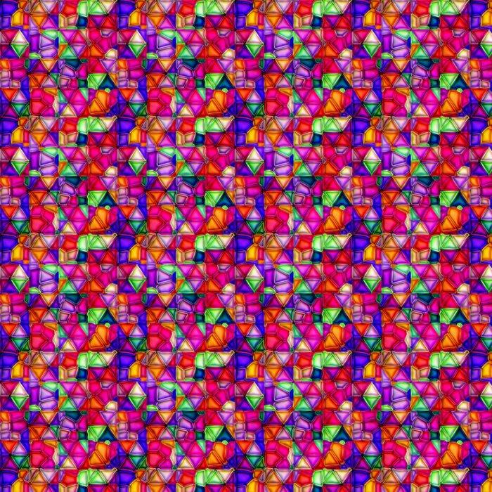 Vinylová Tapeta Vícebarevný vitráže bezešvé textury - Struktury
