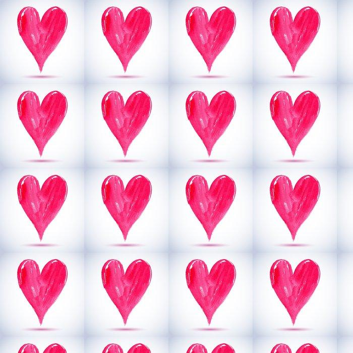Vinylová Tapeta Akvarel červené malované srdce, vektor prvek pro svůj design - Značky a symboly