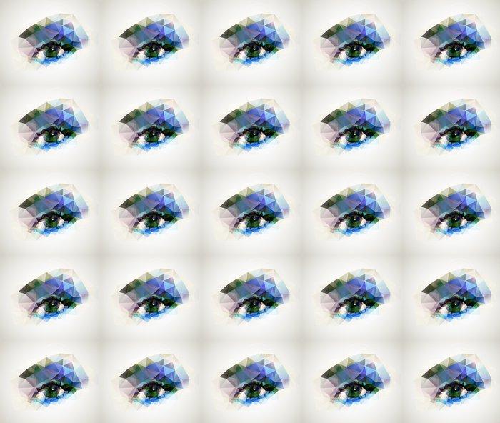 Vinylová Tapeta Ženské oko vytvořené z polygonů - Témata