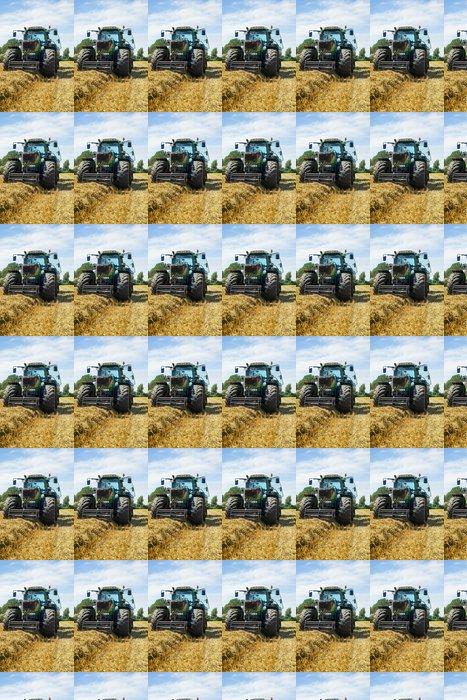 Vinylová Tapeta Straw sklizeň, traktor před velkou lisu - Zemědělství