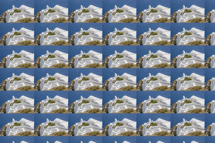 Vinylová Tapeta Santorini Oia vesnice terasa u moře - Evropa