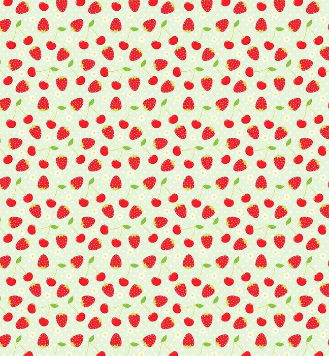 Vinylová Tapeta Strawberry vzor - Témata