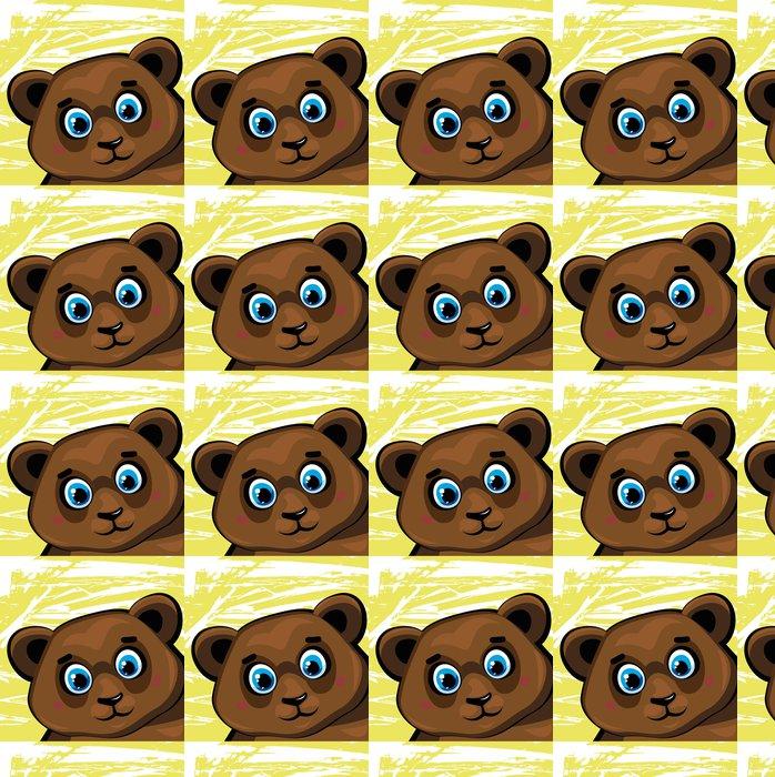 Vinylová Tapeta Catroon hnědá funny bear - Pro předškoláka