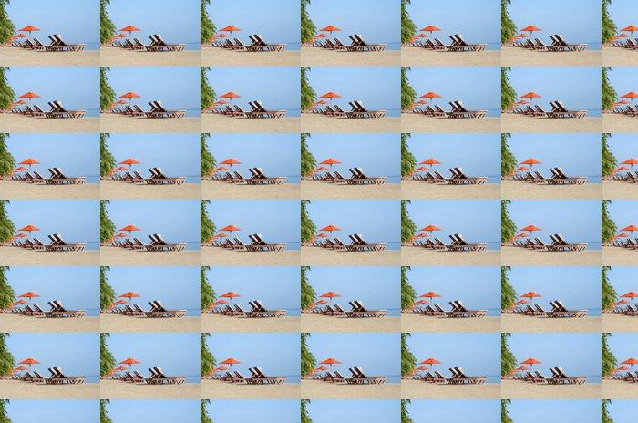 Vinil Duvar Kağıdı Kıyısında şezlonglar - Adalar