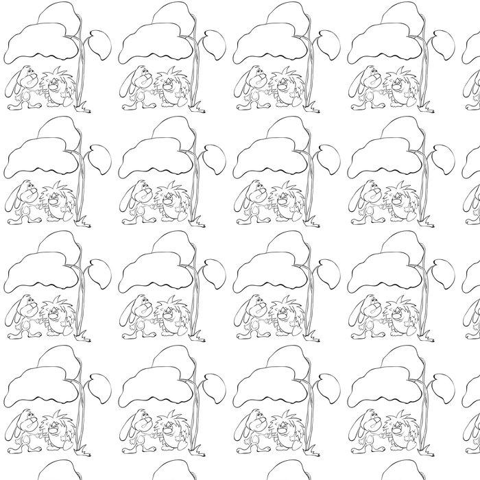 Vinylová Tapeta Králík a ježek pod křídla - Savci