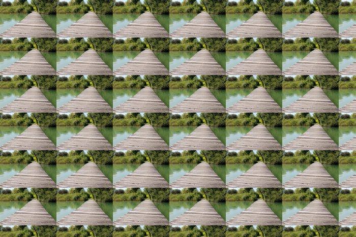 Vinylová Tapeta Výhled na jezero slunečného dne - Roční období