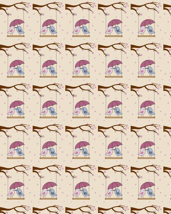 Vinylová Tapeta Card San Valentin. Ptáci v lásce - Mezinárodní svátky