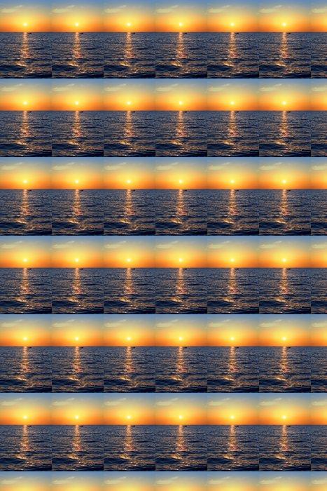 Vinylová Tapeta Blue zlaté svítání přímořská mořská oceánu červená obloha - Nebe