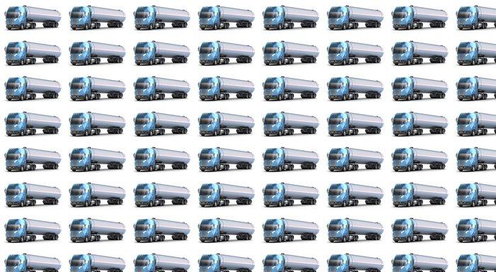 Vinylová Tapeta Oil Tanker truck. Izolované 3D obrázek. Můj vlastní návrh - Na cestě