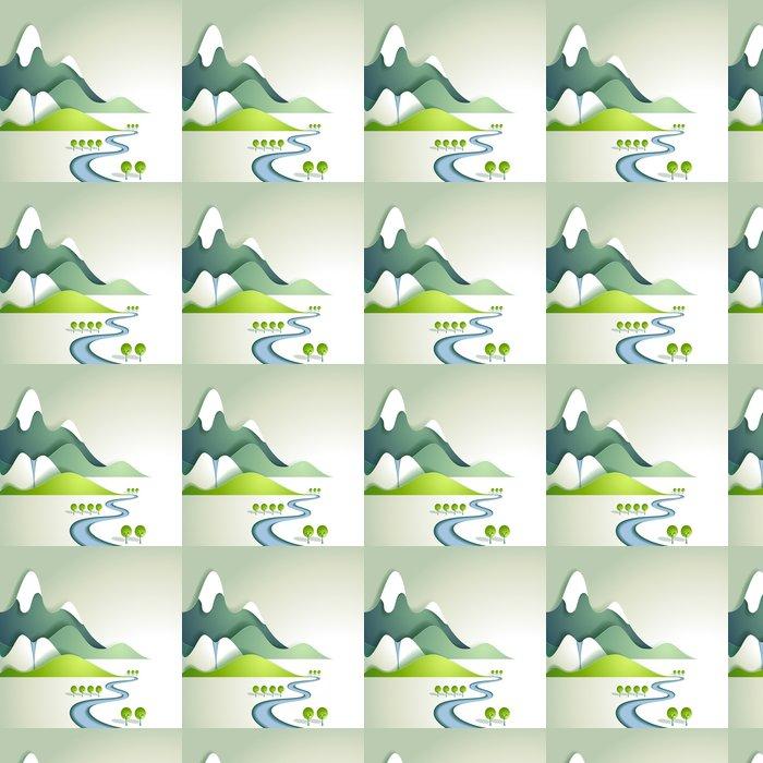 Vinylová Tapeta Papír horské krajiny - Roční období