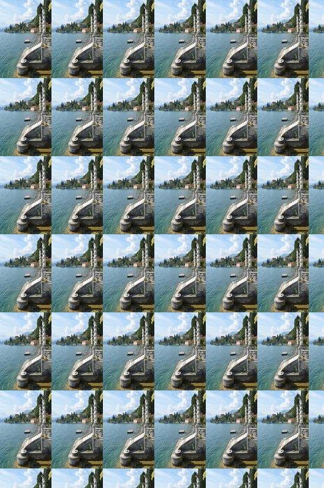 Vinylová Tapeta Pohled na jezera Como od vily Monastero. Itálie - Soukromé budovy