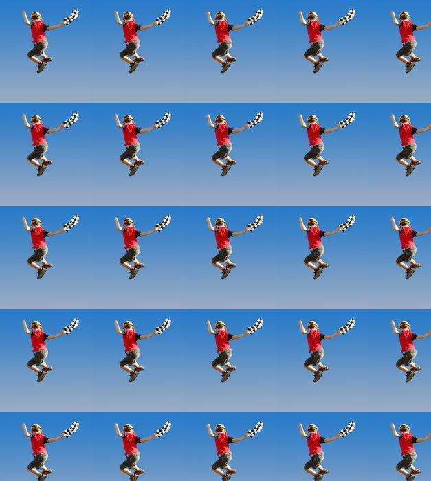 Vinylová Tapeta Chlapec se zkontrolovat vlajky skákání ve vzduchu - Individuální sporty