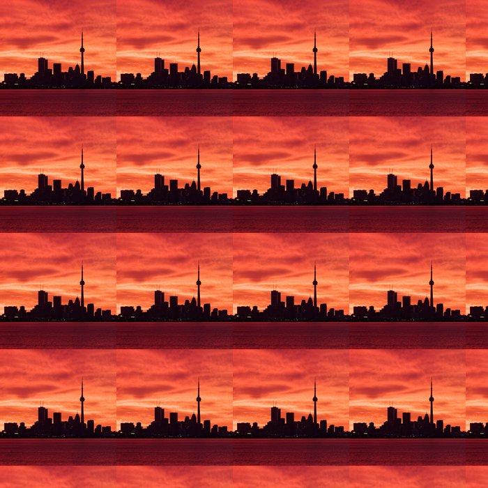 Vinylová Tapeta Downtown Toronto probouzí k ohnivé nebe - Amerika