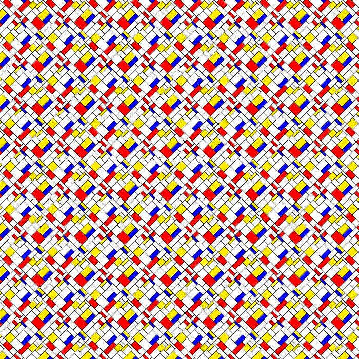 Vinylová Tapeta Barevné úhlopříčka geometrické Mondrian stylu bezešvé vzor - Témata