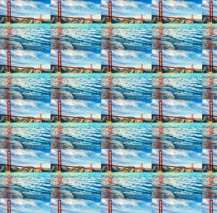 Vinylová Tapeta Golden Gate, San Francisco, Kalifornie, USA. - Severní Amerika