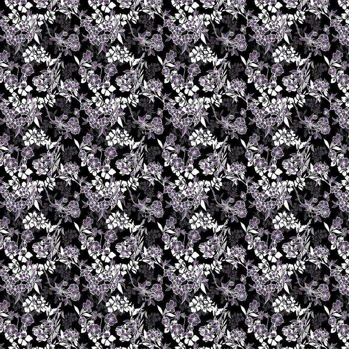 Vinylová Tapeta Bezproblémové vzorek s rozkvetlou třešní nebo sakura - Struktury