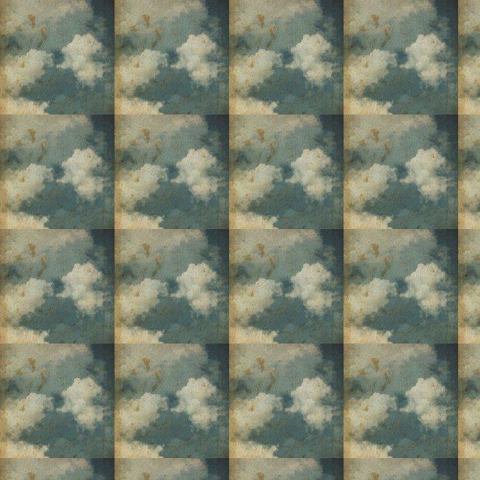 Vinylová Tapeta Grunge oblačnosti pozadí, vinobraní papír textury - iStaging