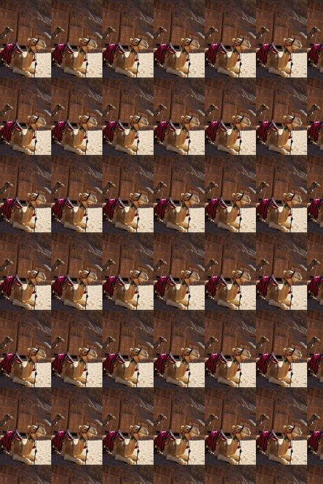 Vinylová Tapeta Velbloudi čekající na dopravu - Savci