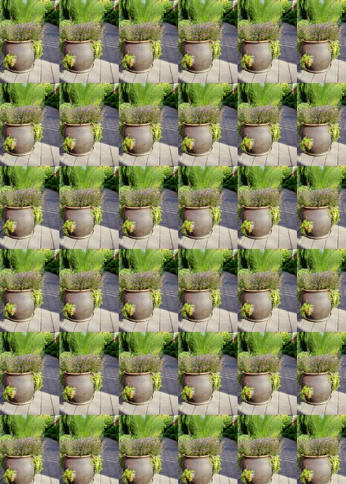 Vinylová Tapeta Zahradní květináč - Veřejné budovy