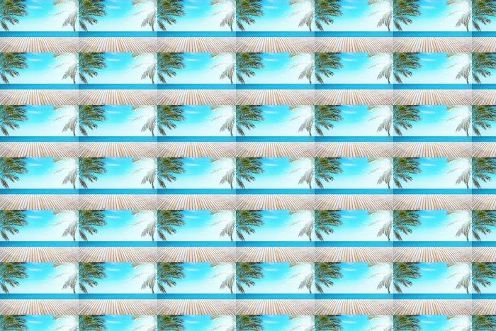 Vinylová Tapeta Tropical View Beach - Nebe