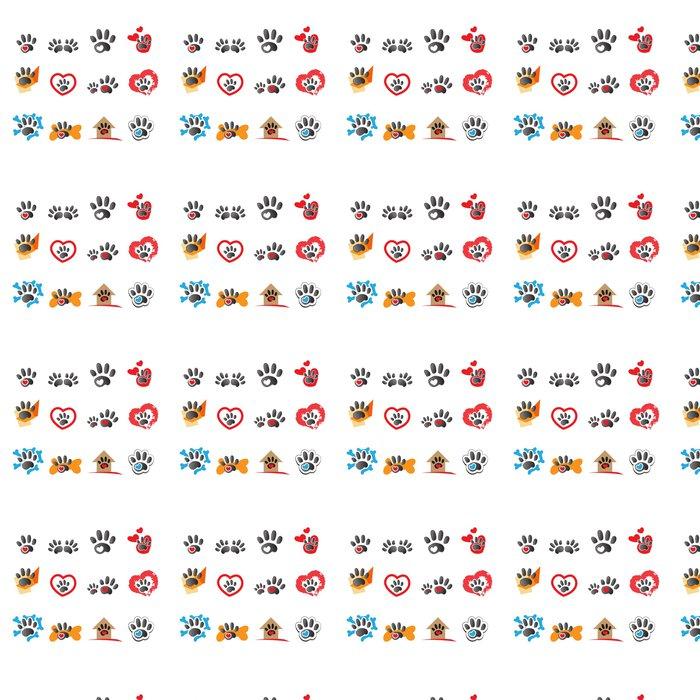 Vinylová Tapeta Kočka a pes ikony - izolovaných na bílém pozadí - Savci
