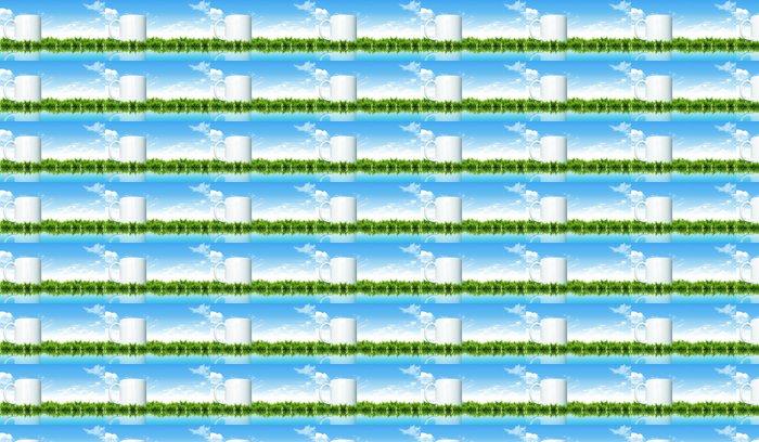 Vinylová Tapeta Šálek na trávě s jasnou oblohou - Přírodní krásy