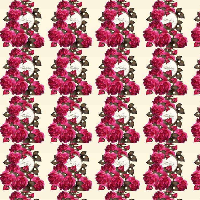 Vinylová Tapeta Svatební pozvánku s růžemi - Slavnosti