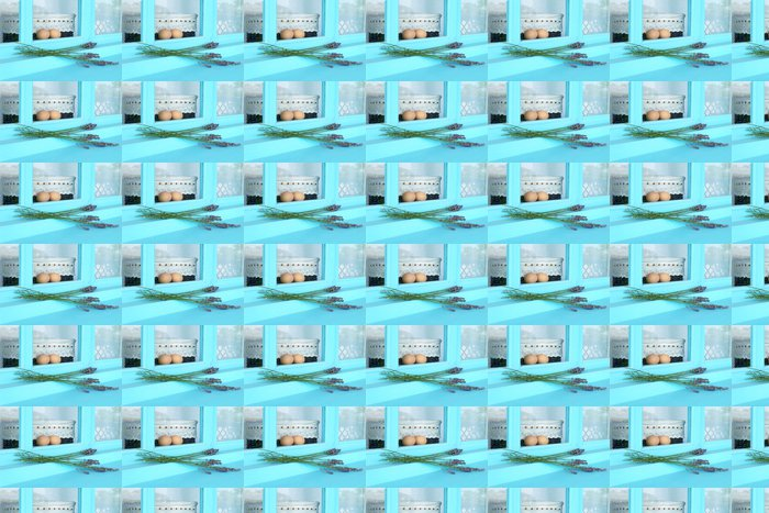 Vinylová Tapeta Styl okna modrá země - Evropa