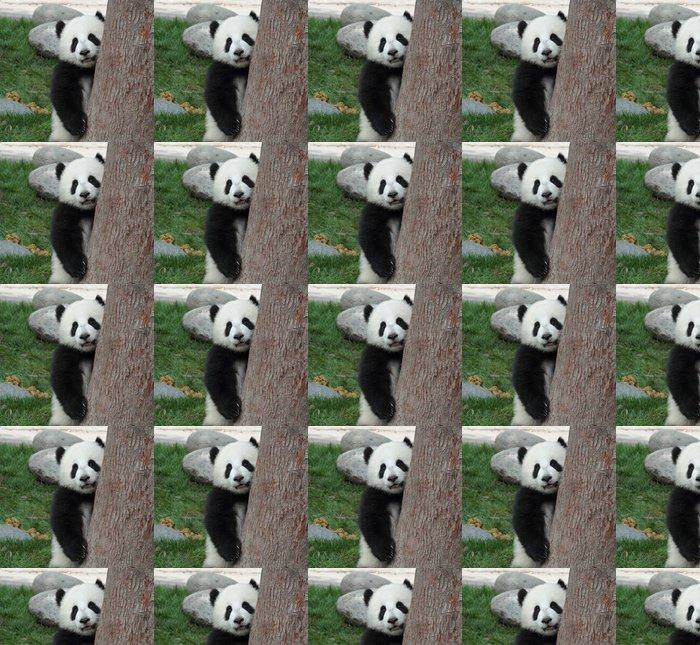 Vinylová Tapeta Panda mládě skrýt nahlédnout za stromem - Témata