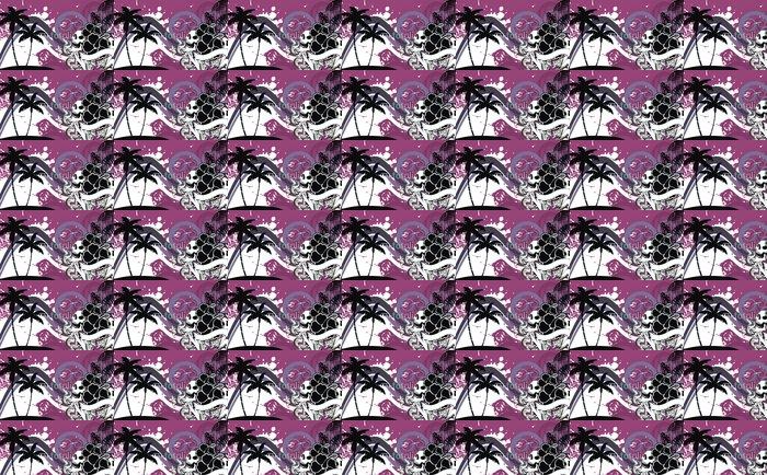 Vinylová Tapeta Tropické hawaii lebka background10 - Témata