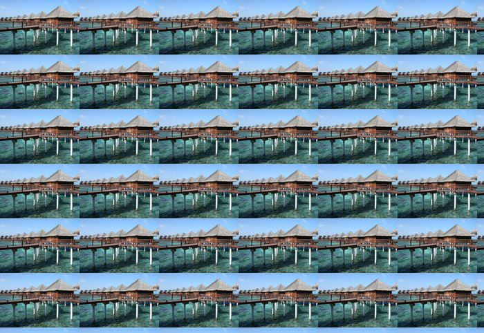 Vinylová Tapeta Maldives Water Villas - Asie
