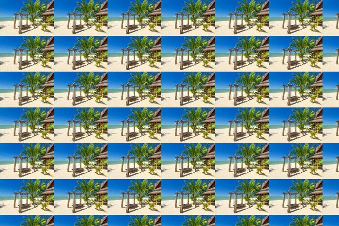 Vinylová Tapeta Krásnou tropickou pláž s kokosové palmy strom v Thajsku - Prázdniny