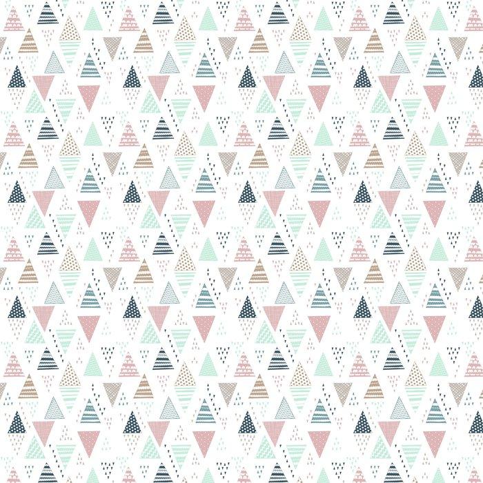Tapeta Winylowa Jednolite wzór z ozdobnymi ręcznie rysowane trójkąty. - Zasoby graficzne