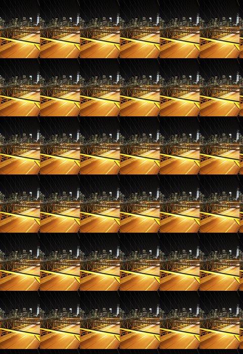 Vinylová Tapeta Provoz v noci na Brooklyn Bridge, New York - Brooklynský Most
