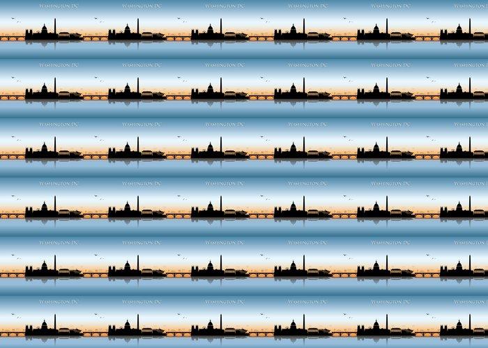 Vinylová Tapeta Washington DC panorama - Americká města