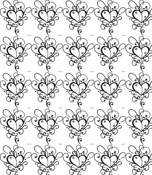 Vinylová Tapeta Herz Tattoo, Tribal, Liebe, láska, filigran - Značky a symboly
