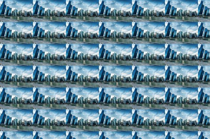 Vinylová Tapeta Mrakodrapy ve finanční čtvrti Singapuru - Asijská města