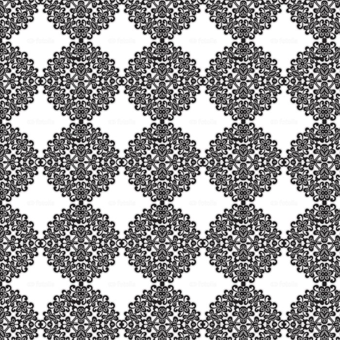 Vinylová Tapeta Černé krajky rám na bílém - Pozadí