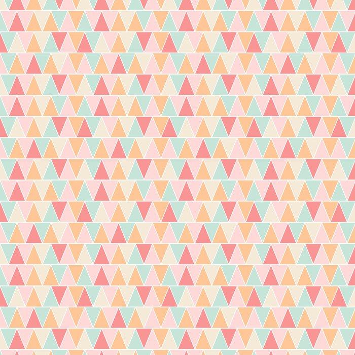 Vinylová Tapeta Bezešvé triangle pastel textury - Témata