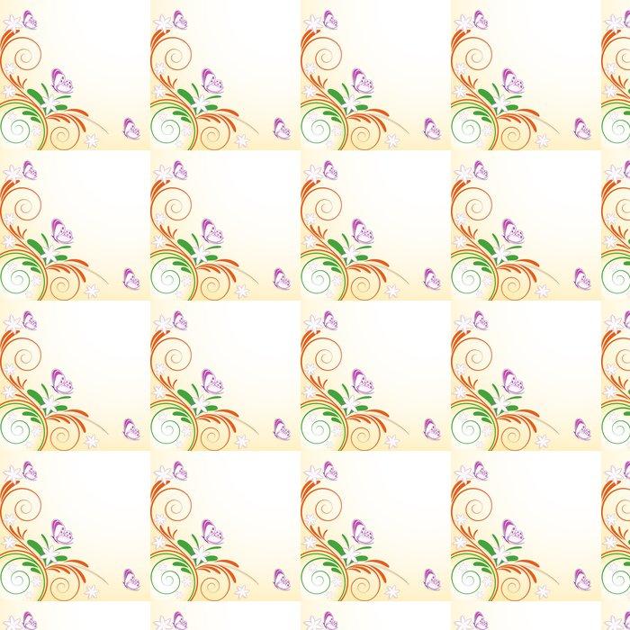 Vinylová Tapeta Květinové dekorace motýli - Roční období