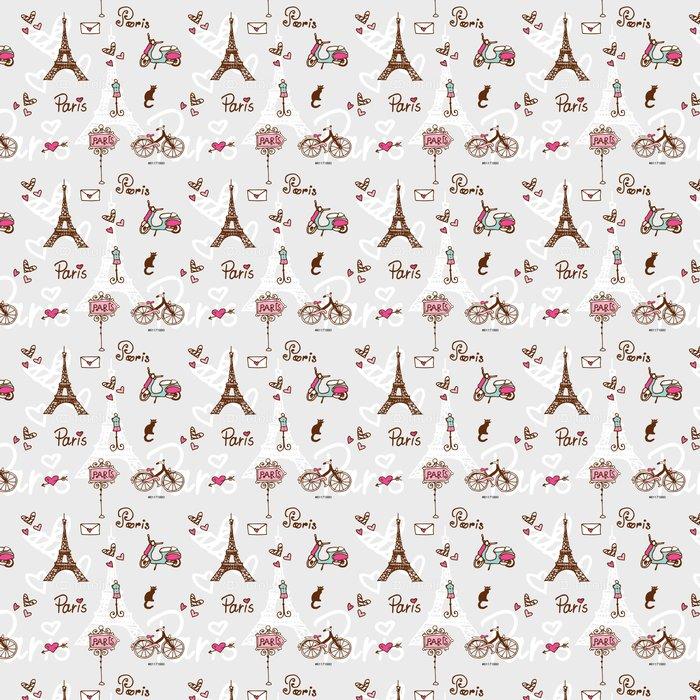 Vinylová Tapeta Paříž symboly - doodle bezešvé vzor pro digitální papír - Mezinárodní svátky