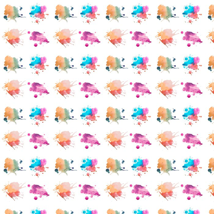 Vinylová Tapeta Barevné retro vinobraní abstraktní akvarel / art akvarel ruční - Prvky podnikání
