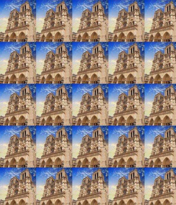 Vinylová Tapeta Katedrála Notre Dame v Paříži fasáda - Evropská města