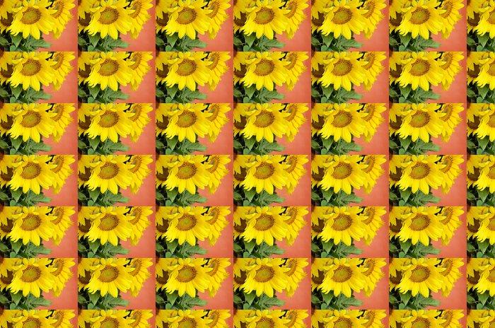 Vinylová Tapeta Slunečnice kytice na červeném pozadí - Národní svátky