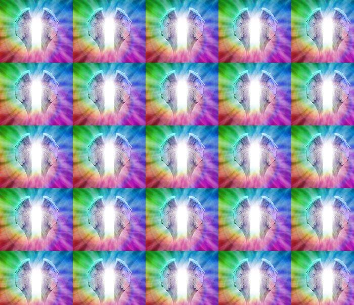 Vinylová Tapeta Andělská křídla na rainbow spirála pozadí - Náboženství